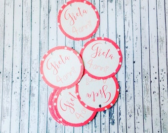 Birthday Polka Dot Tags