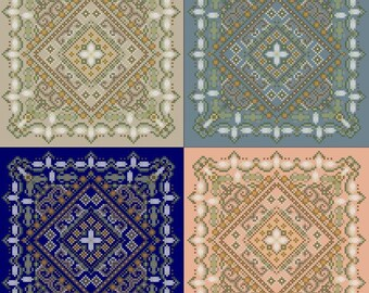Jasmine Garden Mandala Cross Stitch Instant Download PDF Pattern Counted Embroidery Design Geometric Botanical X Stitch DIY Home Decor
