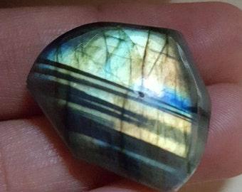 Labradorite natural plain fancy shape cabochon  -22mm x 25mm x 8mm -21-LBDL-28
