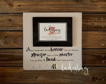 """Always remember you're Braver than you believe...."""". Customize your own frame 12x12 by Ladybug Design by Eu."""