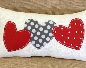 Valentines Pillow, Valentine Day Decor, Valentines Day Pillow, Red Heart Pillow, Valentine Gift, Valentines Day Gift, Valentines Decoration