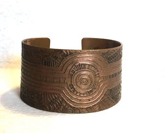 Large Mid Century Modern Copper Cuff