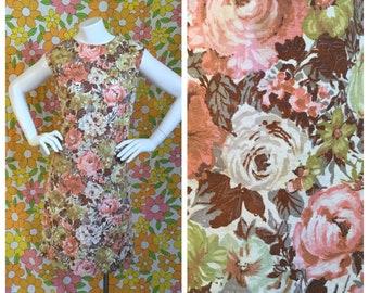 SALE! 60s Vintage Floral Shift Dress Medium Large