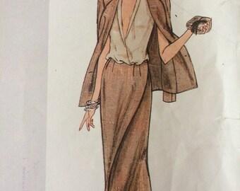 Elegant Vogue American Designer Jacket, Skirt and Blouse Pattern 2219 by John Anthony