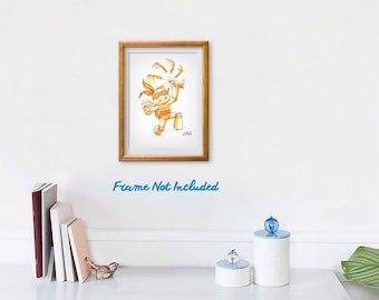 "Chibi Michelangelo 8""x10"" Art Print"
