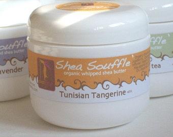 Tangerine Organic Shea Souffle' 4oz.....Bath and Beauty, Skincare, Organic Whipped Shea butter
