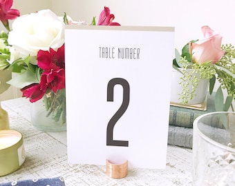Printable Table Number Template  | Instant DOWNLOAD | Matchbook | Flat 5x7 | Editable Colors | Mac or PC | Word & Pages