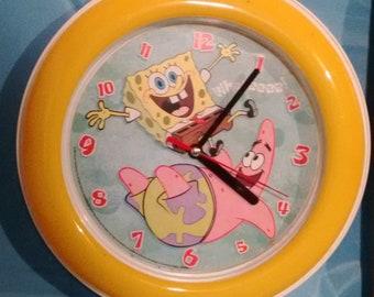 Sponge Bob and Patrick yellow round Analog Wall Clock