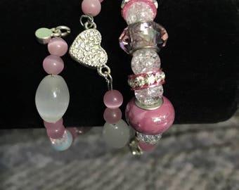 Pretty In Pink Handmade Bracelet