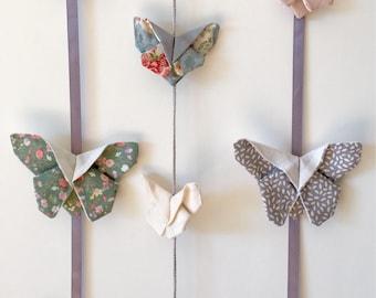 Mobile origami butterflies three garlands