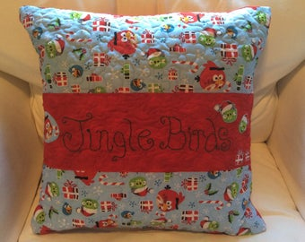 Holiday Angry Birds Pillow Cover