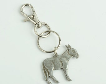 Donkey key chain   zinc cast and plated, sold by each