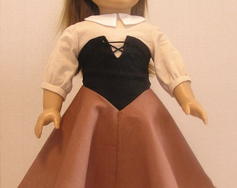Sleeping Beauty Woods Dress and Headband for American Girl or 18 Inch Doll