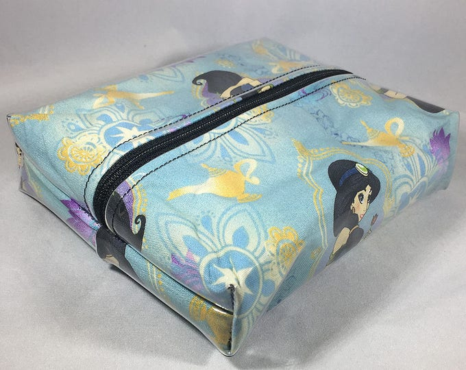 Make Up Bag - Princess Jasmine of Aladdin Box Shaped Cosmetic Bag
