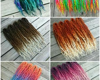Artistic Freedom 50 DE Wavy Wool Dreads Custom Set