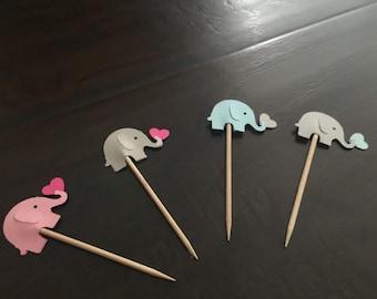 Elephants cupcake toppers