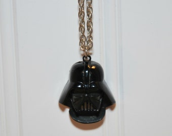 Vintage Darth Vader Metal Pendant Necklace (c.1977) Vintage Star Wars Character, Gift Idea, Collectible, Retro Darth Vader, Original Chain