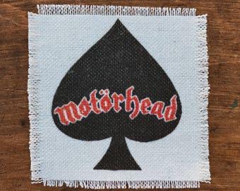 Motörhead handmade canvas patch