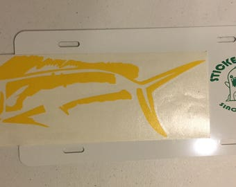Yellow Mahi Decal