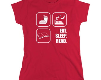 Eat Sleep Read Shirt - book nerd, nerdy, love books - ID: 285