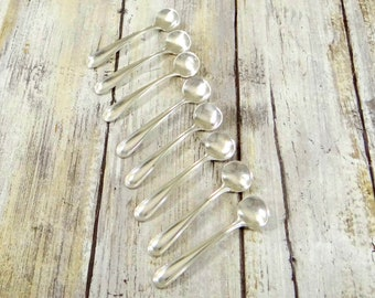 Sterling Silver Salt Spoons by Webster, Set of Eight