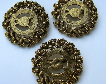 3 Wreath Brooch Pin Findings
