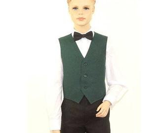 Kids Hunter Green Full Back Dress Vest