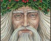 The Holly King 8x10 Fine Art Print Pagan Mythology Bohemian Yule Winter Solstice Goddess