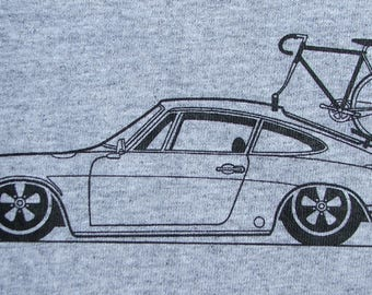 Bicycle T Shirt Bike with Porsche 911