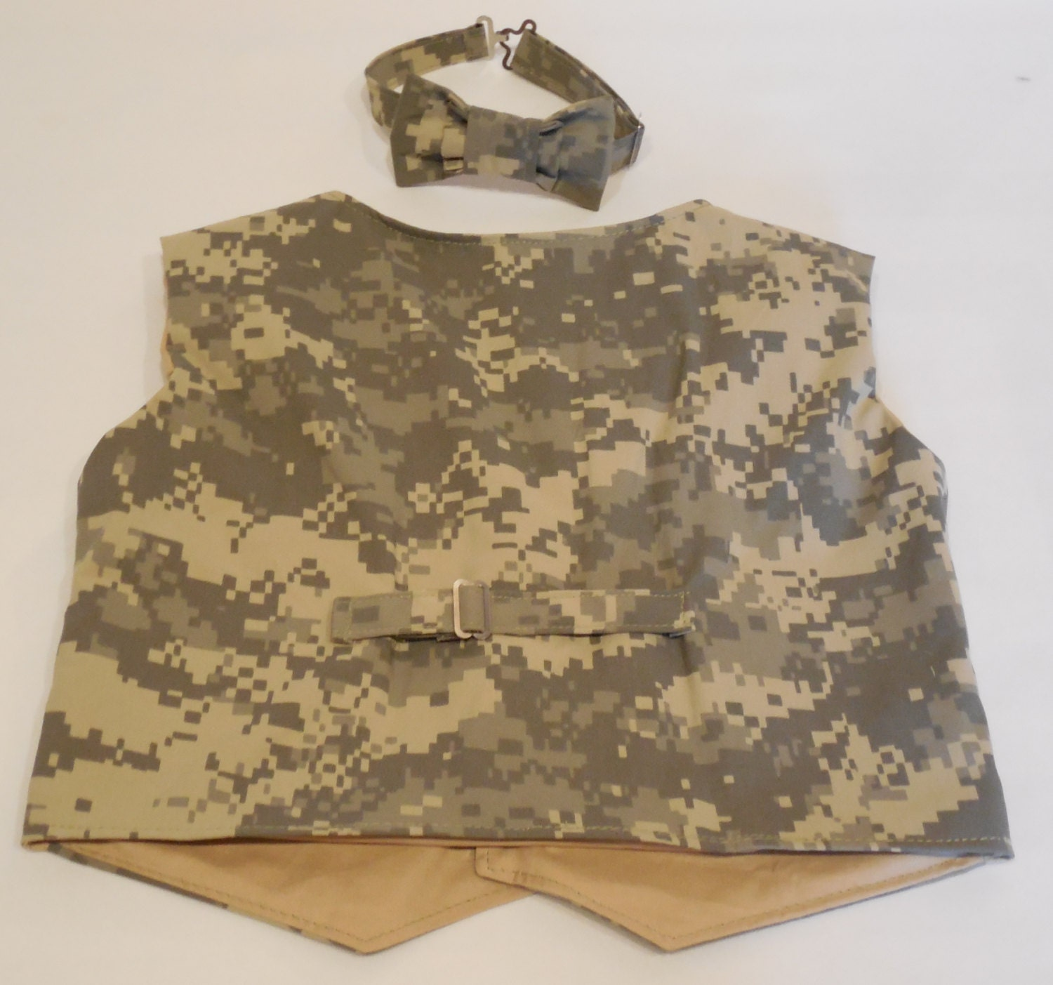 Baby boys or toddlers Army camo vest Military vest for boy ACU camo
