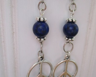 New! world peace earrings....Peace,Love and Happiness :)