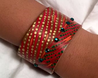 Hand Painted Leather Bracelet