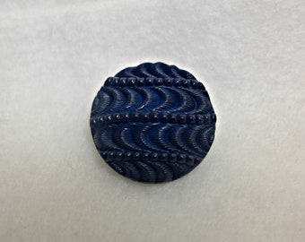 4 navy blue dome buttons  - 27 mm