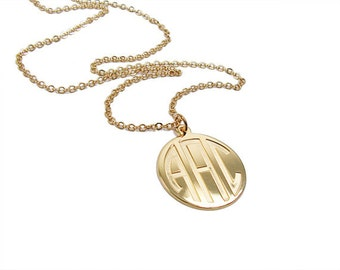 Monogram necklace 2 personalized silver monogram 14k solid gold monogram pendant initials necklace 08 personalized necklace monogram jewelry mozeypictures Choice Image