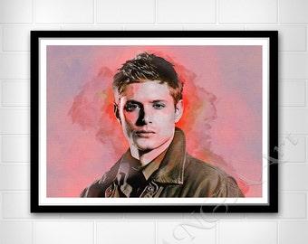 Dean Winchester, Supernatural, Instant download, Movie character, Digital Print, Room decor, Wall print, Jensen Ackles poster, print