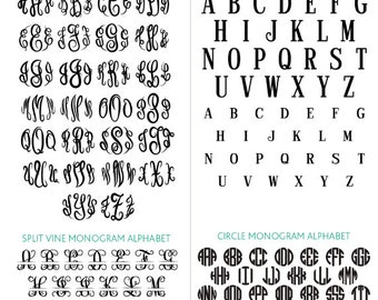 Monogram Svg Monogram Font Svg Monogram Font Bundle Svg Monogram Alphabet Svg Monogram Cut Files Silhouette Studio Cricut Svg Dxf Cdr