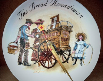 Wedgwood - The Bread Roundsman by John Finnie Clock Plate.
