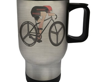 Sports Bicycle Bike Stainless S Travel 14oz Mug q683t