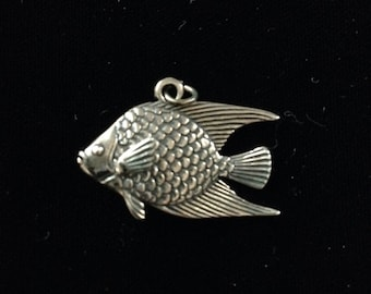 Lrementz sterling silver angel fish pendant.