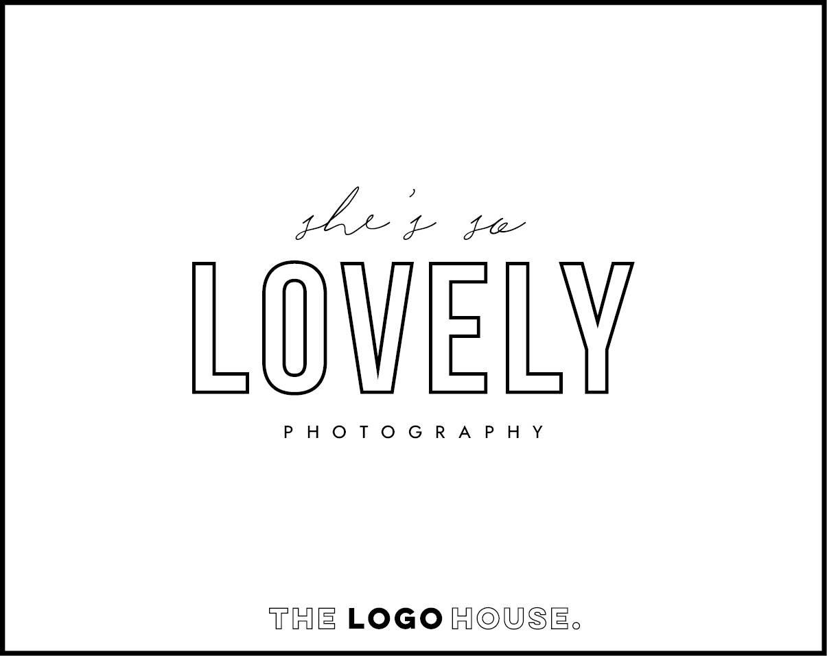 Bold Logo Minimal Photography Chic Design Lovely