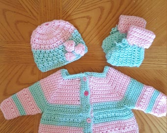 Baby Girl Sweater Set 3-6 month
