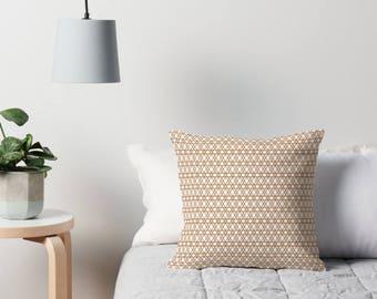 Coussin, coussin aux formes géométriques, décor géométrique, cuivre coussin, coussin, coussin de canapé, cuivre décor à la maison, coussin, maison cuivre en cuivre