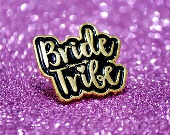 Bride Tribe Hen Party Enamel Lapel Pin Badges - Bachelorette Party Favours