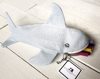 Shark Pencil Case | Gift for Shark Lovers