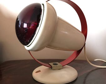 50s 60s vintage modernist Infraphil Lamp By Charlotte Perriand For Philips
