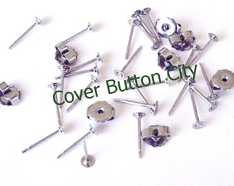 100 Stainless Steel 3mm Earring Posts and Backs - 10.4mm Long