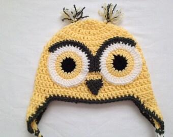 Children's Size Meduim Yellow/Green Crochet Hat