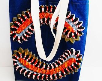 African tote bag/Centipede tote/Batik African Bag/African Fabric Bag/African shopping bag/African fabric tote/African batik tote/Tote bags