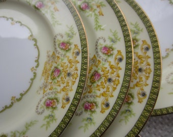 Vintage Charm F & B Meito Japan Bread and Butter Plates
