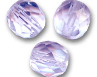 Faceted 6 mm: 15 beads purple Bohemian